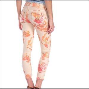 "Hudson ""Collin Skinny Crop"" vintage floral jean"